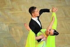 Anastasia Glazunova and Alexey Glukhov - ballroom dancing Royalty Free Stock Image