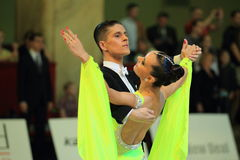 Anastasia Glazunova and Alexey Glukhov - standard ballroom dancing Royalty Free Stock Photo