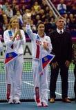 Anastasia Myskina, coach of Russia team Royalty Free Stock Images