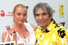 Anastasia Volochkova e Bari Alibasov ad un quotCruise Collectionquot della sfilata di moda marcano a caldo YanaStasia Immagine Stock Libera da Diritti