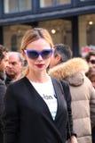 Anastasiia masiutikina Milano, Milan moda tygodnia streetstyle jesieni zima 2015 2016 Obraz Stock