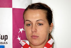 Anastasija Pavluchenkova. BELGRADE - FEBRUARY 3 Russian tennis player Anastasija Pavluchenkova on press conference, FED CUP SERBIA vs RUSSIA FEBRUARY 3, 2010 in Royalty Free Stock Photo
