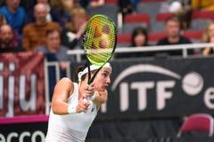 Anastasija Sevastova podczas świat grupy II Round Pierwszy gry między drużynowym Latvia Sistani i drużyną, zdjęcia stock