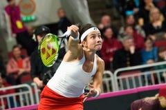 Anastasija Sevastova podczas świat grupy II Round Pierwszy gry między drużynowym Latvia Sistani i drużyną, zdjęcie stock