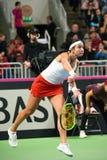 Anastasija Sevastova podczas świat grupy II Round Pierwszy gry między drużynowym Latvia Sistani i drużyną, zdjęcie royalty free