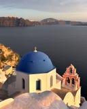 The Anastasis Church in the Evening, Oia, Santorini, Greece Stock Photography