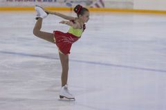 Anastasiya Bulanova from Russia performs Gold Class III Girls Free Skating Program Royalty Free Stock Photography