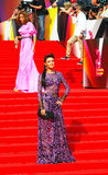 Anastasiya Makeeva en el festival de cine de Moscú Fotografía de archivo