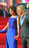 Anastasiya Makeeva and Gleb Matveichuk at Moscow Film Festival Royalty Free Stock Photo