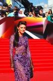 Anastasiya Makeeva no festival de cinema de Moscou Imagens de Stock Royalty Free
