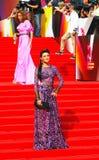 Anastasiya Makeeva på Moskvafilmfestivalen Arkivbild