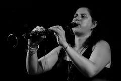 Anat Cohen en el jazz 2011 de Umbría Imágenes de archivo libres de regalías