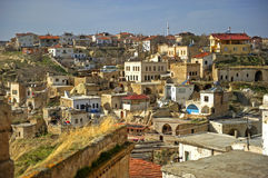 Anatolia. View at a typical village in Cappadocia Royalty Free Stock Images