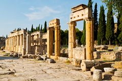 Anatolia pamukkale    old   roman temple Royalty Free Stock Photos