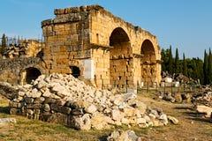 Anatolia pamukkale      and the roman temple Stock Photo
