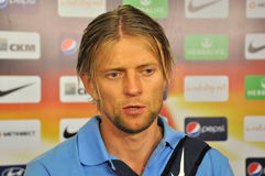 Anatoliy Tymoshchuk. Portrait in mix zone Stock Photo