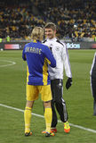 Anatoliy Tymoshchuk and Thomas Muller Royalty Free Stock Photo