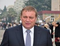 Anatoly Pakhomov, alcalde de Sochi, Rusia Foto de archivo