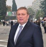 Anatoly Pakhomov, mayor de Sochi, Rússia imagens de stock royalty free