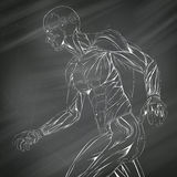 Anatomía humana del músculo Imagen de archivo libre de regalías