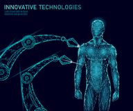 Anatomia astratta del corpo umano Tecnologia dell'innovazione di scienza di ingegneria del DNA Medicina di terapia genica di rice royalty illustrazione gratis