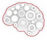 Anatomia del cervello delle idee dell'ingranaggio del corpo umano Fotografie Stock