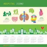 Anatomia ed insieme dell'icona dell'ospedale immagine stock