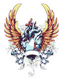 Anatomical Heart With Wings Royalty Free Stock Images