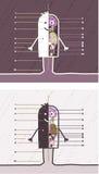 Anatomie farbige Karikatur Lizenzfreie Stockfotos
