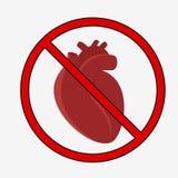 Anatomie van menselijk hart vector illustratie