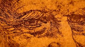 Anatomyart. 14th centuryanatomyart by Leonardo Da Vinci stock footage