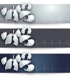 Anatomy banners Stock Photos