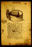 Anatomy. Close up of Old anatomy drawings by Leonardo Da Vinci stock illustration