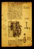 Anatomy. Close up of Old anatomy drawings by Leonardo Da Vinci royalty free illustration