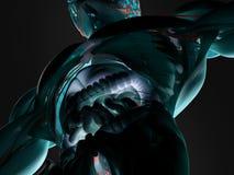 Anatomy of intestines. A futuristic scan of human intestines Royalty Free Stock Photos