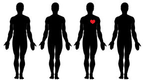 Anatomy of love Stock Images