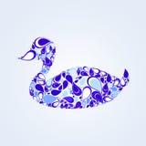 Anatra blu Fotografie Stock Libere da Diritti
