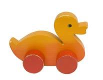 Anatra di legno del giocattolo Fotografia Stock