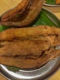 Anatra fritta nel grasso bollente di Bombay fotografia stock
