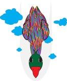 Anatra variopinta illustrazione di stock