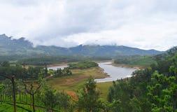 Anayirankal Lake and Dam - Water, Mountains and Greenery - Munnar, Kerala, India. This is a photograph of Anayirankal, also called Anayirangal, dam and lake Royalty Free Stock Photography