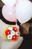 Anazing cake for girl`s Birthday. Royalty Free Stock Photos