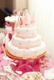 Anazing tort dla dziewczyny ` s urodziny Obraz Royalty Free
