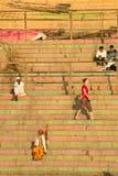 Anbeter auf Ganga rive Stockbilder
