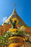 Anbetung Phra Thad Doi Suthep Stockbilder