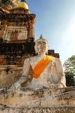 Anbetung von Thailand, Buddha-Statue, Geschichte von Thailand, Buddha-Statue Tempel von Ayutthaya-Provinz Historischer Park Ayutt Stockfotografie
