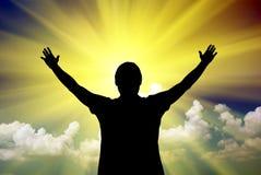Anbetung zum Gott Stockbild