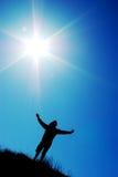 Anbetung zur Sonne Stockbild