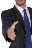 Anbietenerschütterung des Mannes hand Stockfoto