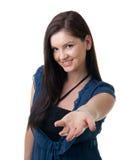 Anbietenhand der jungen Frau Lizenzfreie Stockbilder